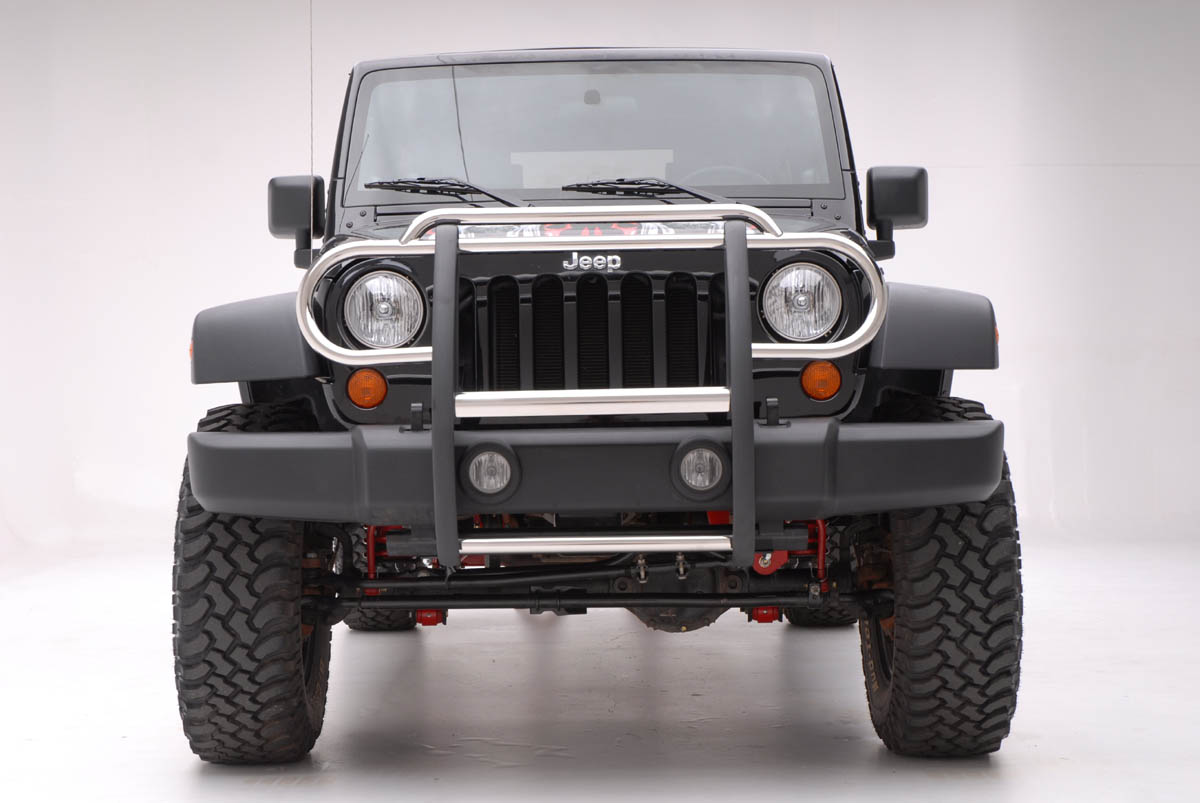 2014 Jeep Wrangler Unlimited Aries Grill Guard - Stainless Steel from ...