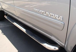 2013 Toyota Tundra Double Cab Round side bars - Stainless Steel from A-1 Toyota